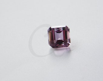 One Piece Emerald Cut Natural Amethyst Stone Cabochons - Untreated Sparking Loose Stone - Square
