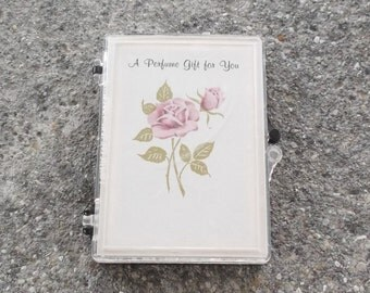 1960s Vintage Perfume Samples A Perfume Gift For You Pink Rose Cover