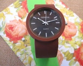 Matte Finish Brown Ladies Cuff Watch from Geneva