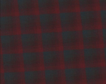 """PENDLETON Gray/Red Wool Flannel Fabric. 59"""" wide. 1 yard."""