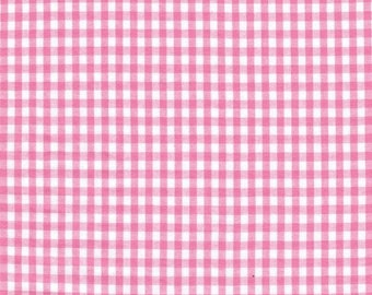Clearance FABRIC Classic Retro PINK Small GINGHAM Check 1/2 yard