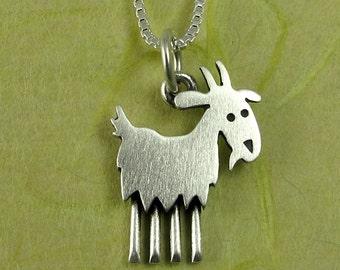 Tiny goat necklace
