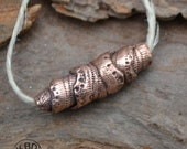 Hollow Copper Snakeskin Bead (1 bead)