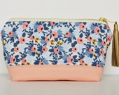 Essential Oil Case made with Rifle Paper Co. Fabric *READY TO SHIP* (essential oil bag, rifle paper co essential oil bag, rifle paper co.)