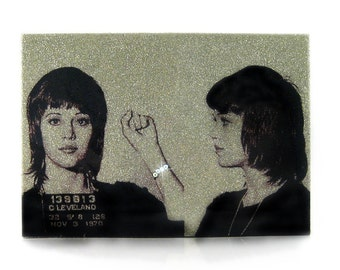Jane Fonda Glamourizing Crime art plaque
