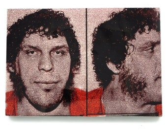 Andre the Giant Glamourizing Crime art plaque