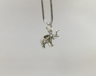 Sterling Silver Charm, elephant , perfect for many artistic creations!