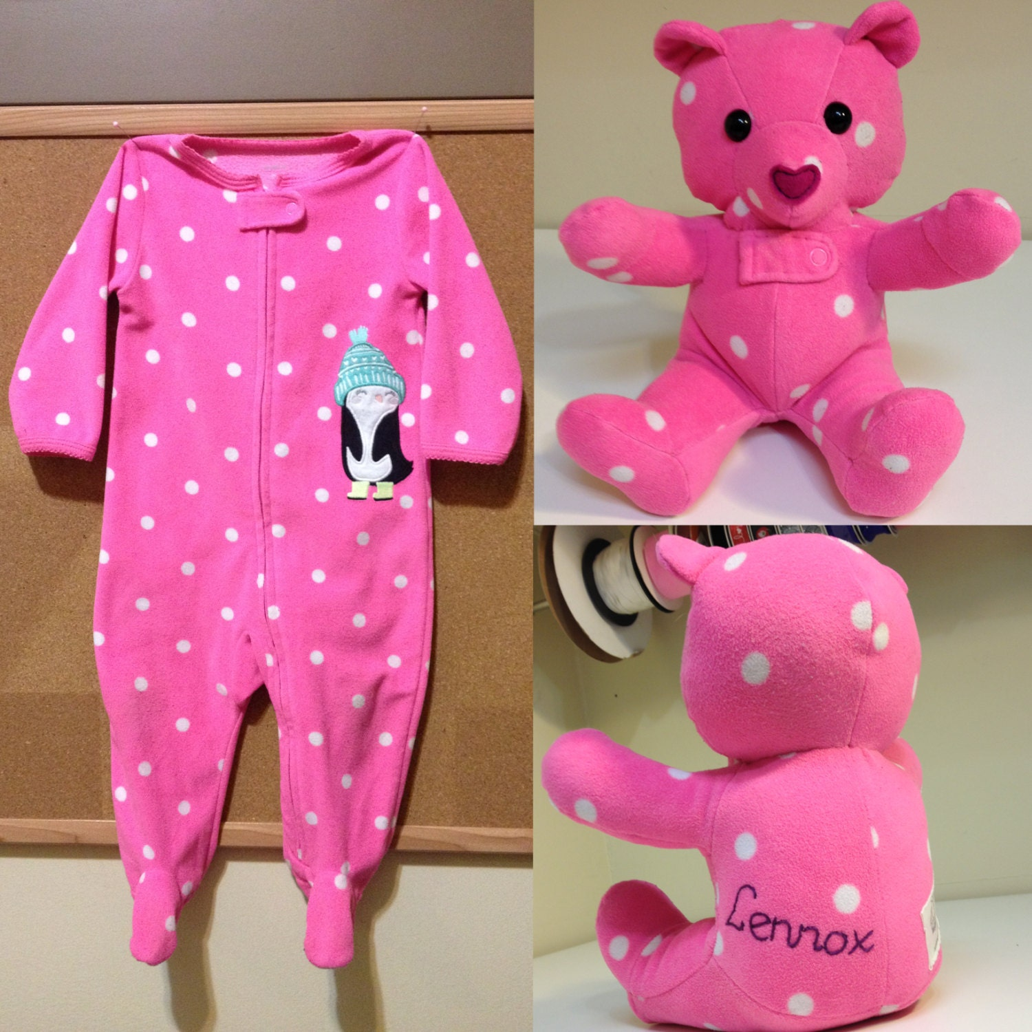 Keepsake Memory Teddy Bear upcycled from your own by