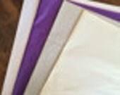 Lavender, Ivory, gray Garland kit