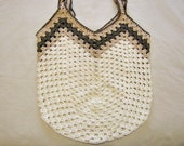 Extra Large Crocheted Market or Beach Bag