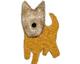 YORKIE Yorkshire Terrier Felt Dog Shape for Bead Embroidery, Making Beaded Animals, Crafting, or Embellishment