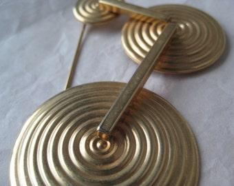 Modern Gold Brooch Vintage Pin Mod