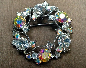 Ridiculous Steal! Lot of Gorgeous Mid-Century Rhinestone Jewelry Brooches Barrette Earrings
