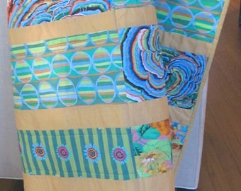 Colorful one of a kind Handmade Quilt