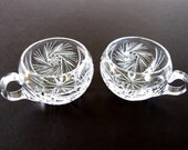 2 Vintage Cut Glass Crystal Punch Cups