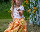 Girl's Maxi skirt - Little girls maxi skirt - Maxi skirt -Toddler Maxi skirt - Girls long skirt - Spring skirt - Easter - Bohemian skirt