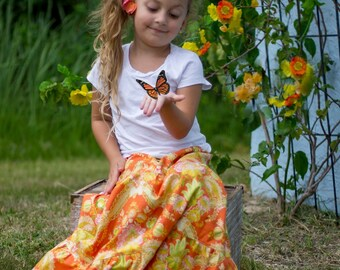 Girl's Maxi skirt - Little girls maxi skirt - Maxi skirt -Toddler Maxi skirt - Girls long skirt - Fall skirt - Autumn skirt - Bohemian skirt