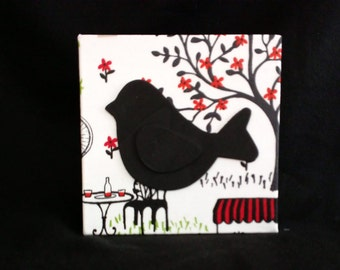 Bird Block Decor