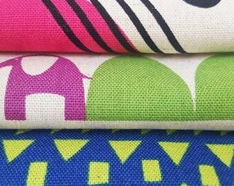 BUNDLE of THREE 1-yard cuts of Cotton/Linen Fabric