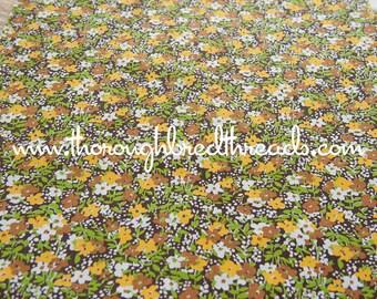 Daisy Garden - Vintage Fabric Mod Juvenile New Old Stock