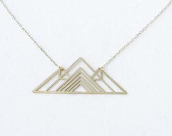 Geometric Mountain Pendant Necklace | Item No. ATL-N-126