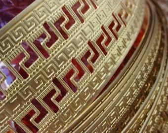 NEW Half Foot Egyptian Roman Keyhole Vintage Stl Raw Gold Brass Banding One 1 1/4 Inch Wide Jewelry Findings Hardware 21g Sheet Metal Art