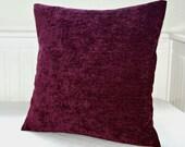 grape accent decorative pillow cover 16 inch, decorative cushion cover plum