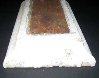 Antique Architectural Element - Chippy White Wooden Chunk of Molding