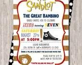 Sandlot Birthday Invitation, Baseball Birthday Invitation, The Sandlot movie Birthday 5x7 printable - print at home