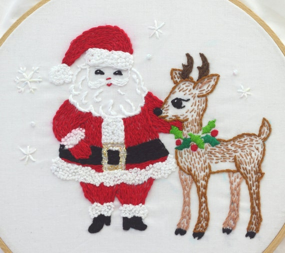 Santa Claus Embroidery Pattern