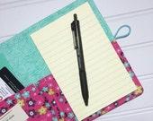 SUMMER SALE 20% off - Mini Shopper - Notepad holder List taker - Princess Garden Floral