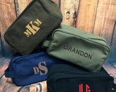 Men's Monogrammed Toiletry / Travel Kit Bags - Just for him, Guy Gift