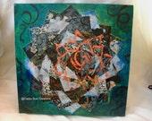 Lotus star collage modern zen art mandala inspired creation