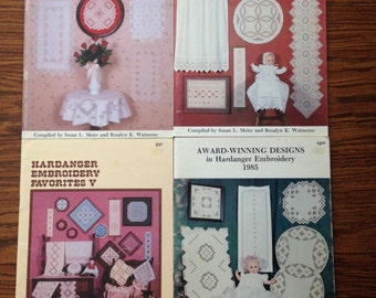 Collection of Hardanger Embroidery Pattern Books