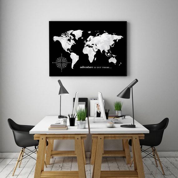 World Map Push Pin Travel Map World Travels Map Office
