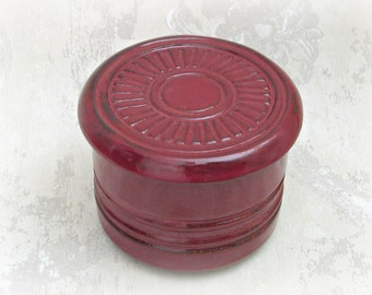 French Butter Crock in Burgundy - Always Soft Butter