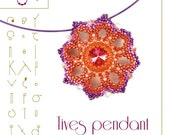 Beading tutorial / pattern Tives pendant with delica beads. Beading instruction in PDF – for personal use only