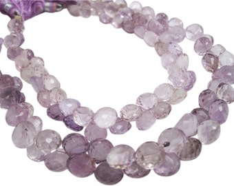 Pink Amethyst Beads, Pink Amethyst Briolettes, Luxe AAA, Onion Briolettes, Febuary Birthstone, SKU 3694A