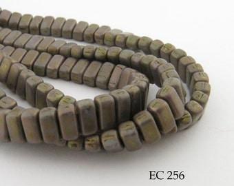 6mm CzechMates 2 Hole Opaque Beige Luster Brick Beads 3x6mm (EC 256) 50 pcs BlueEchoBeads