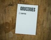 Grocery List / Coffee