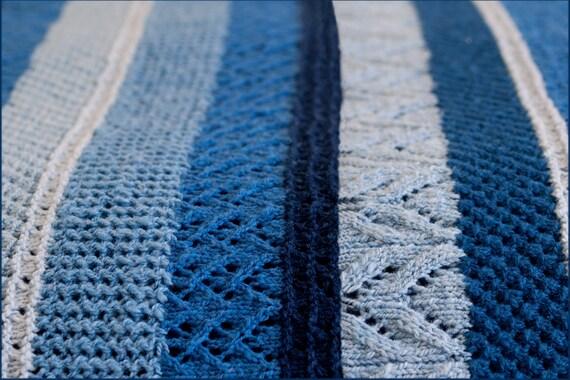 Ocean Currents Blanket - Knitting Pattern - Twin, Queen ...