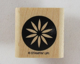 Stampin Up! - Flower in Circle Rubber Stamp #RS218
