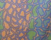 "Brandon Mably BM16 Python Brown RARE retired Kaffe Fassett Collective Designer Quilting 18"" BTHY Rowan Westminster Half Yard Quilt Fabric HY"