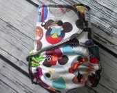 One Size Stay Dry Overnight Fitted Cloth Diaper in I Spy by Soothe Baby SECOND