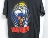 Vintage Van Halen 1986 5150 Tour Concrt T-shirt Rock & Roll Concert Shirt Original Sammy Hagar