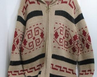 "Vintage Pendleton Men's The Big Lebowski ""The Dude"" Sweater XL 1960s Cowichan"