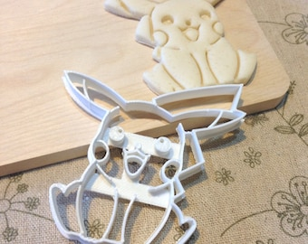 Pikachu Cookie Cutter - Pokemon Go Fondant Icing Cake Cupcake Topper Iced Sugar Cookies Biscuits Mould Birthday Party Anime Pocket Monsters