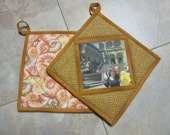 Personalized Potholders SET of TWO