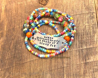 Never Underestimate the Power of a Hissy Fit Bracelet southern girl belle saying phrase quote witty funny advice vibrant bright rainbow