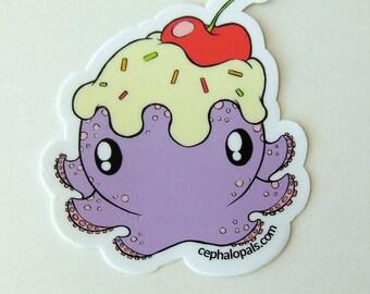 Die-Cut Cephalopal Sundae Sticker